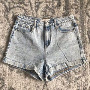 PacSun Acid Wash High Waisted Mom Shorts 29